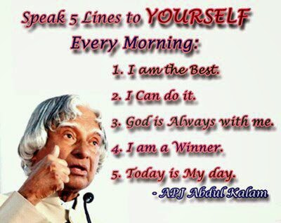 five lines to yourself apj abdul Kalam Quotes