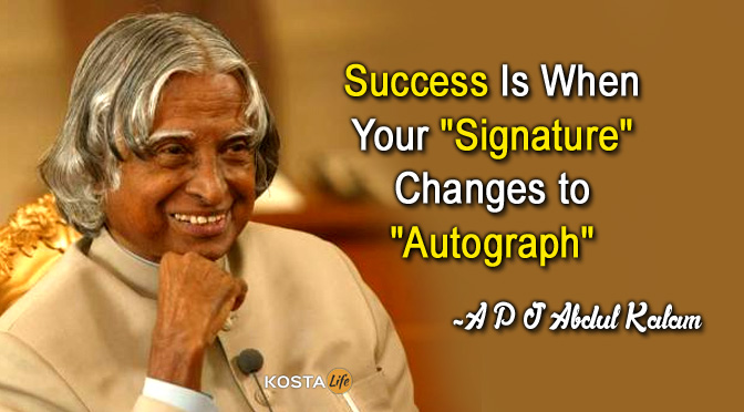 Success signature abdul kalam