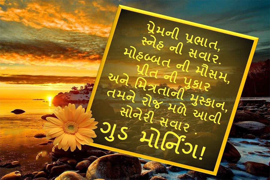Good Morning Gujarati quote on love